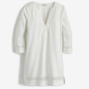 J CREW IVORY TUNIC WITH EMBROIDERY SIZE XS